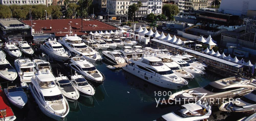 Marina of yachts