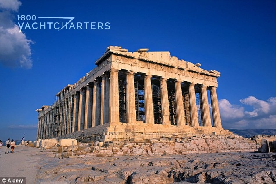 greece. Photograph of the Acropolis in Athens, Greece