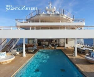 Photograph of yacht Ulysses swimming pool.