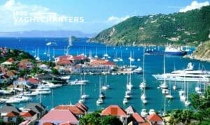 yacht charter marina. Photograph of boat marina in the caribbean