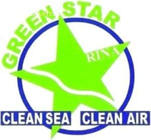 Green Star logo for RINA marine design certificate for environmental excellence.