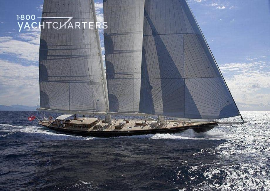 This is Us luxury sailboat photograph. Picture of the boat under sail
