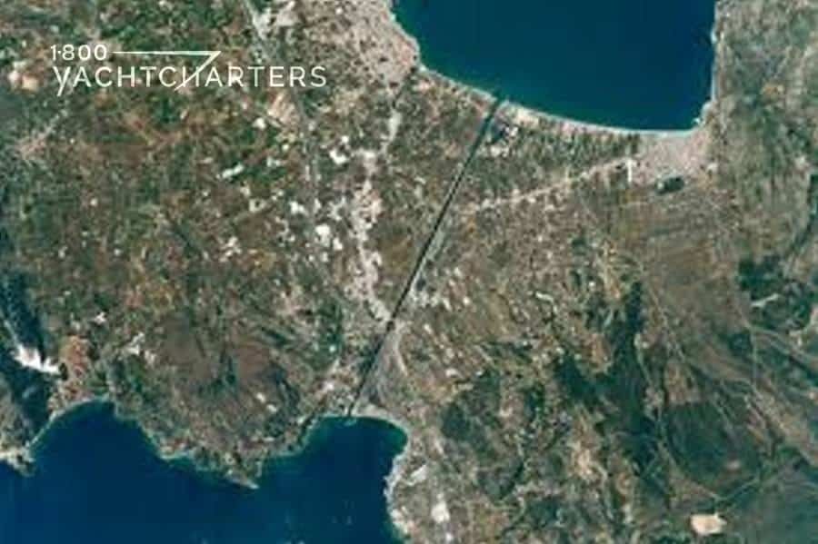 Satellite photo of the Corinth Canal