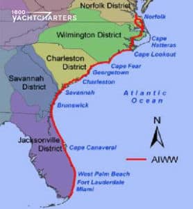 Map of the intracoastal waterway