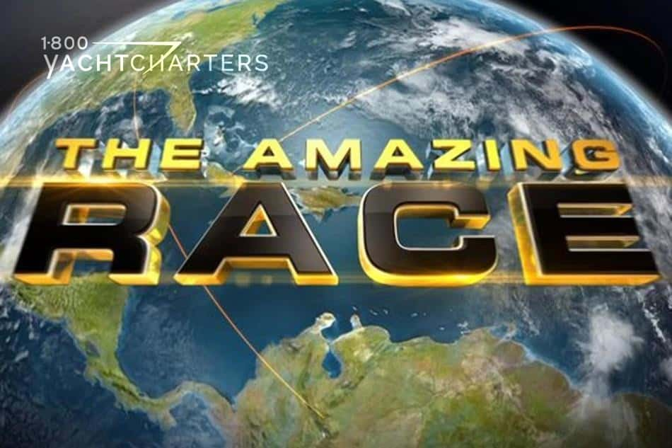 Logo for The Amazing Race reality tv show.