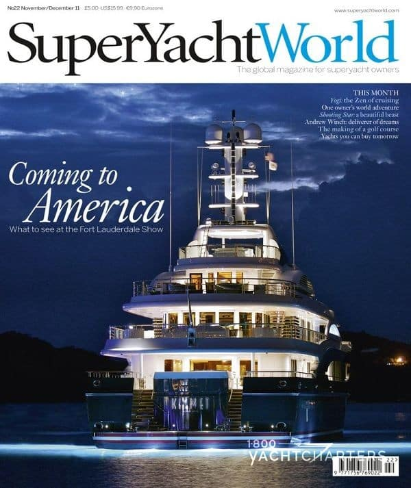 superyacht world magazine cover featuring motoryacht jo