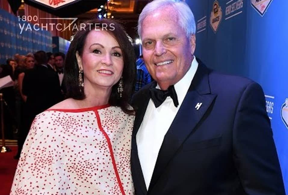 Photograph of Rick and Linda Hendrick of Hendrick Motorsports