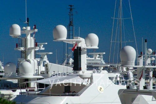 VSAT very small aperture terminal wifi communications on yachts iates yate boat private yacht vacation charter a yacht
