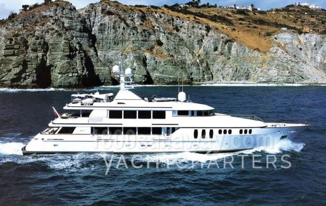 yacht charter vessel Claire - 150 foot Trinity yacht that charters in the Bahamas