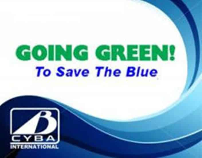 Logo for Going Green To Save the Blue CYBA yacht charter association