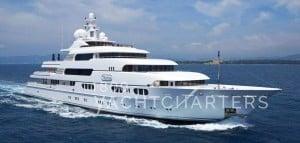 lurssen Titania private yacht charter mediterranean