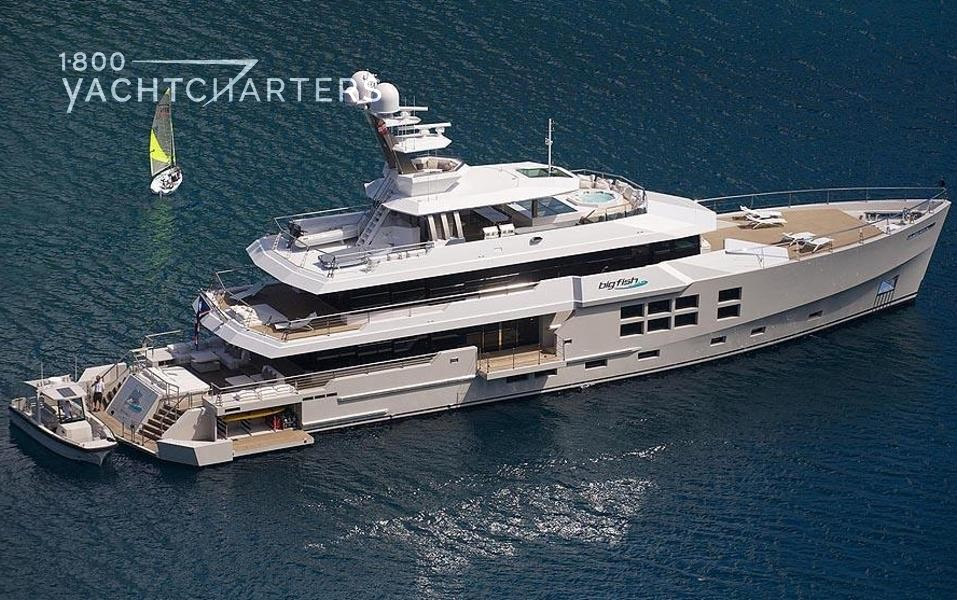 Aerial photograph of BIG FISH motoryacht yacht charter boat