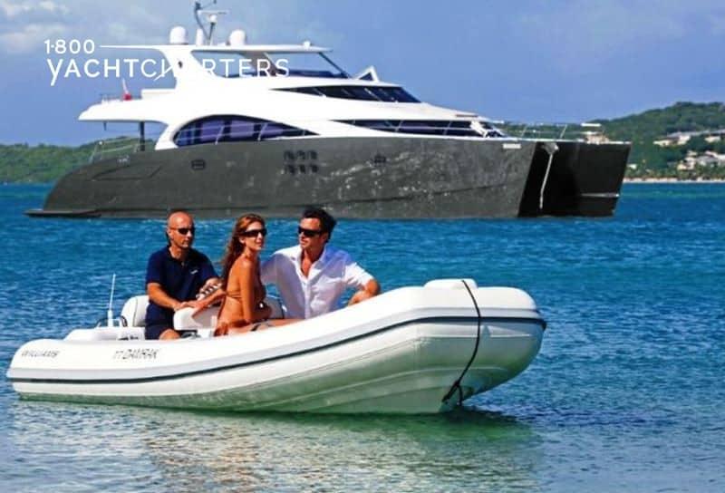 Yacht charter powercat DAMRAK II superyacht charter 1800yachtcharters