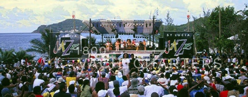 st. lucia jazz and arts festival yacht charter special events