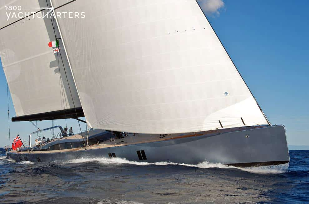 sarissa sailboat one of the largest sail yacht heads to southeast asia and thailand and the solomon islands