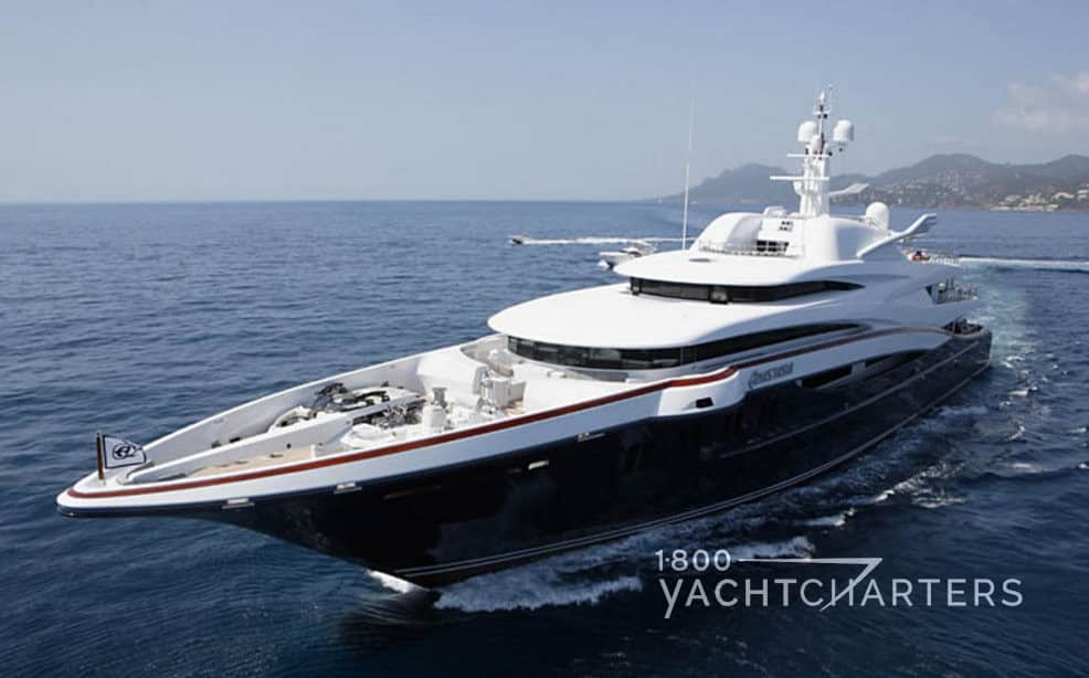 ANASTASIA yacht underway - profile