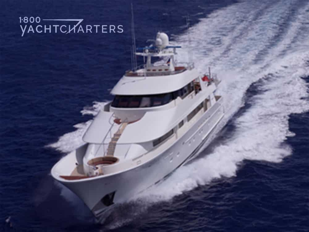 ARMS REACH underway 1800yachtcharters
