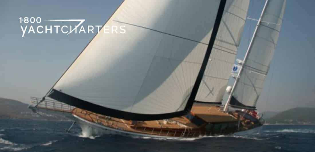 CLEAR EYES sailboat under sail 1800yachtcharters