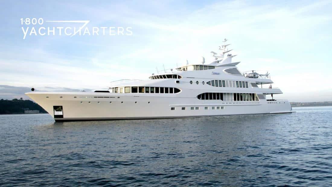 Profile of motoryacht Maraya, facing left