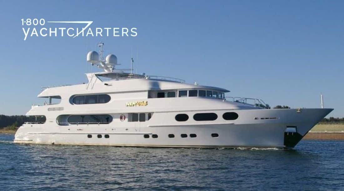 Profile of luxury motoryacht MILESTONE, facing right
