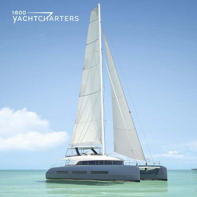 Catamaran profile - at anchor