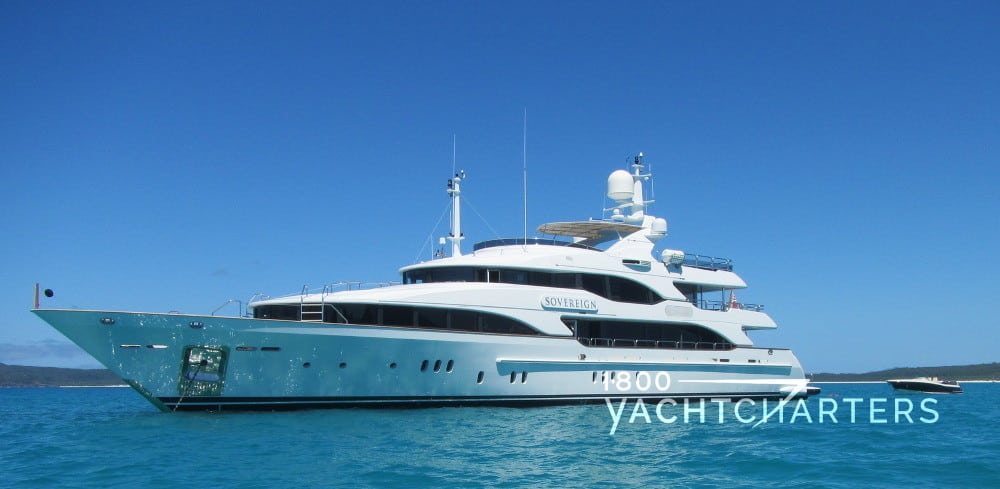 SOVEREIGN yacht profile facing left