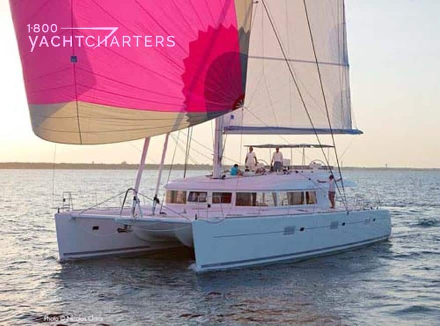 AVALON catamaran under sail 1800yachtcharters