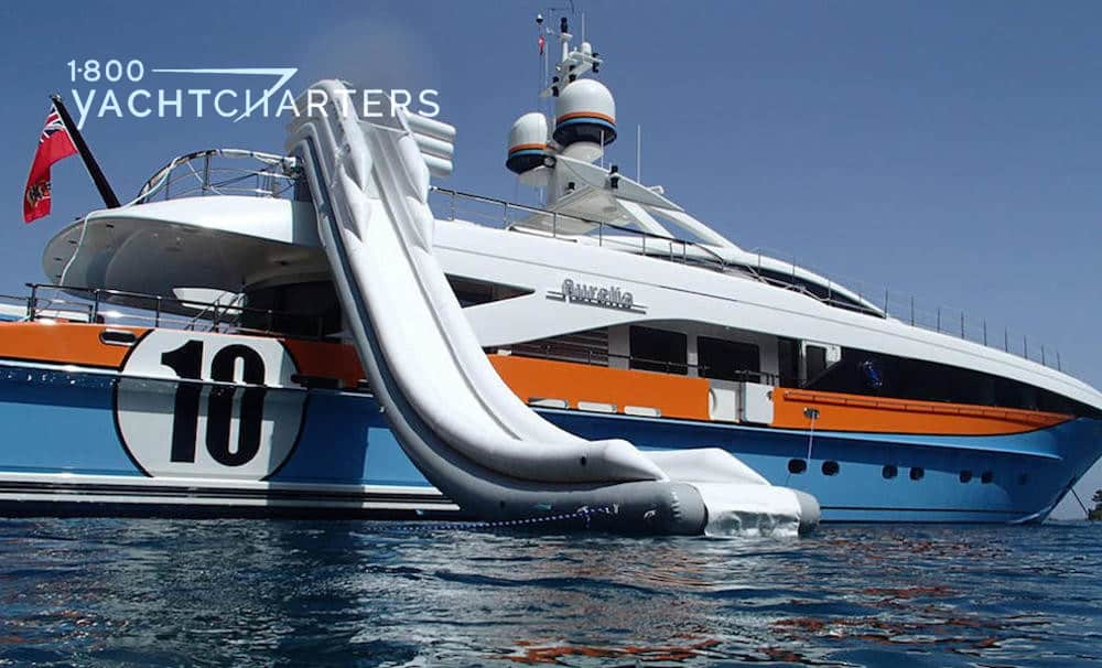 AURELIA inflatable slide 1800yachtcharters
