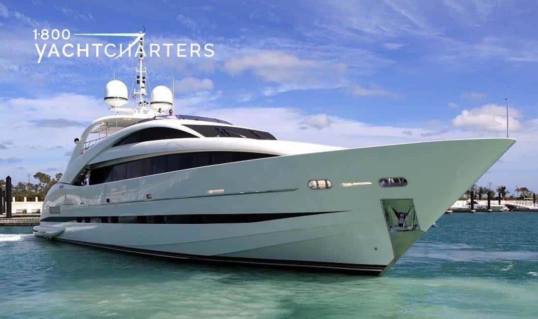 Bow profile of motoryacht Sealyon 37 at anchor