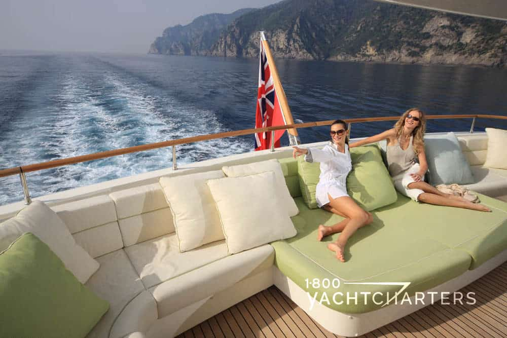 HANA and beautiful models relaxing on yacht