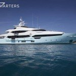Princess AVK sistership sleek white yacht profile - facing right