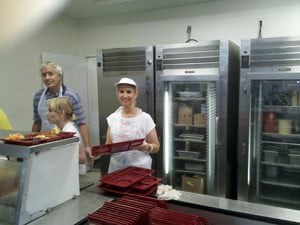 Jana Sheeder working In Homeless Shelter Kitchen