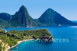 yacht charter caribbean st. lucia pitons waterfalls caribe tropical