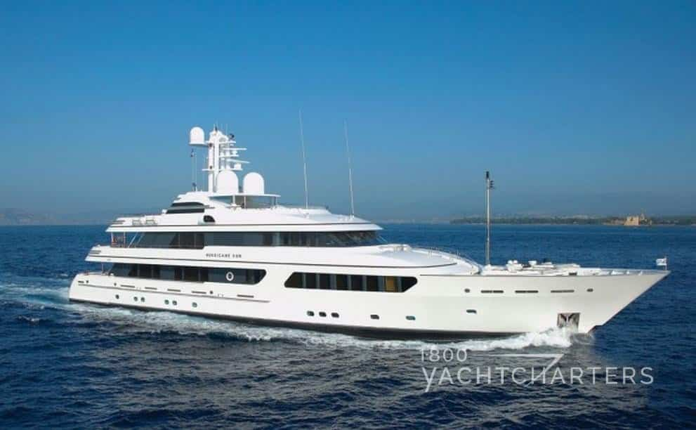 Feadship yacht Hurricane Run profile on yacht charter