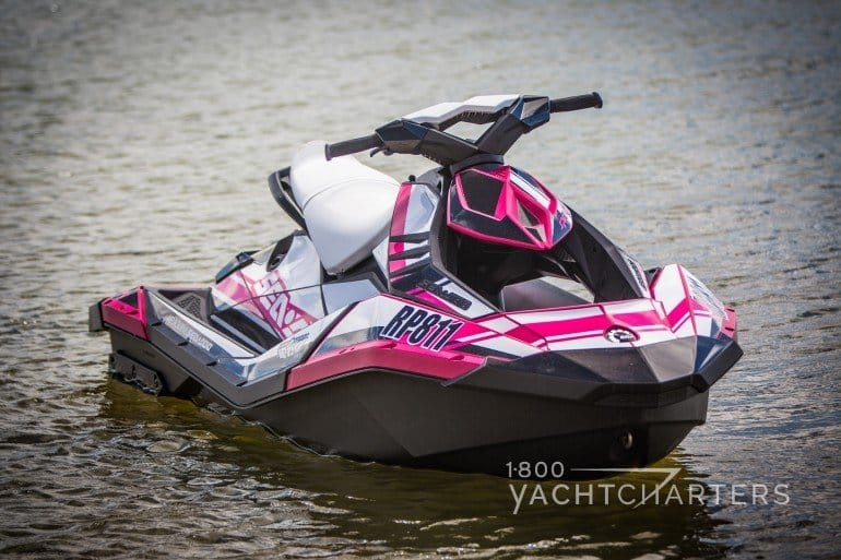 Sea-Doo Spark raspberry and silver jetski personal watercraft