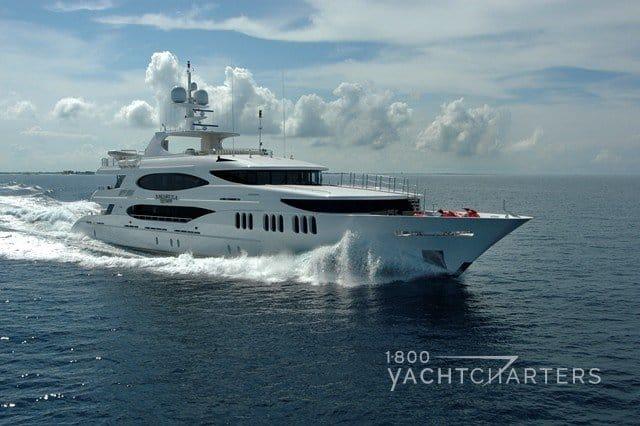 Amarula Sun white boat motoryacht profile underway