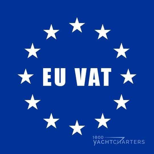 VAT EU logo yacht charter france