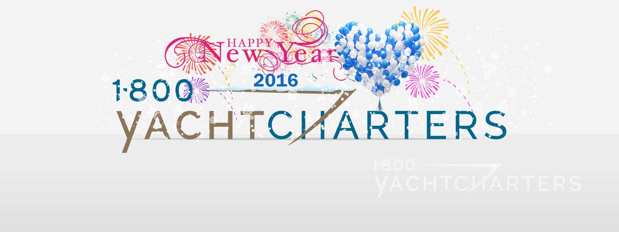 Happy New Year 1800yachtcharters logo