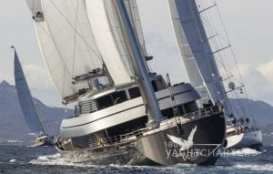 Private yacht Maltese Falcon sailboat racing Perini Navi