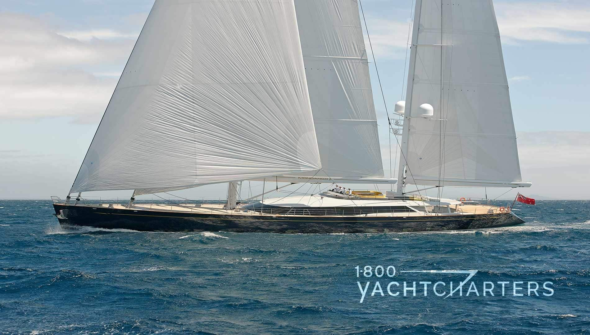 MONDANGO private luxury yacht charter sailboat underway