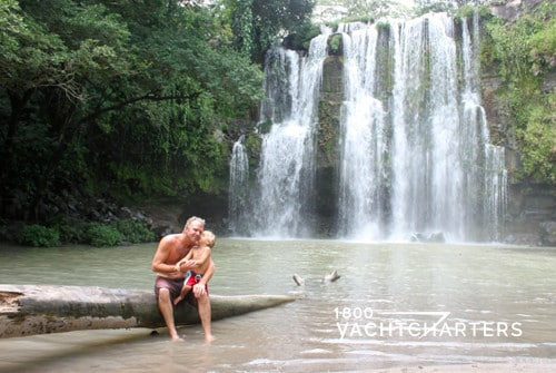 waterfall in Costa Rica where yacht charter guests will visit