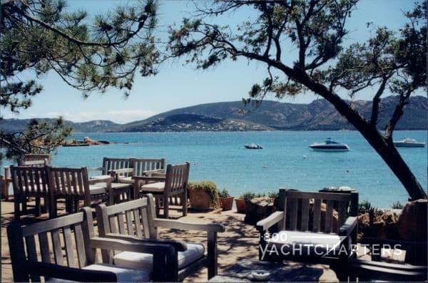 Corsica - Le Grand Hotel de Cala Rossa beach at Calla Marcella