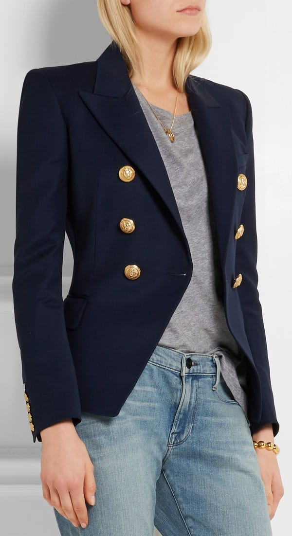 Nautical blazer for boat show fashion