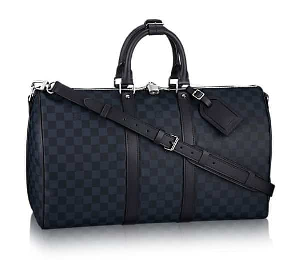 Louis Vuitton Keepall Bandouliere 45 monogram canvas travel bag in cobalt blue for boat show fashion nautical style