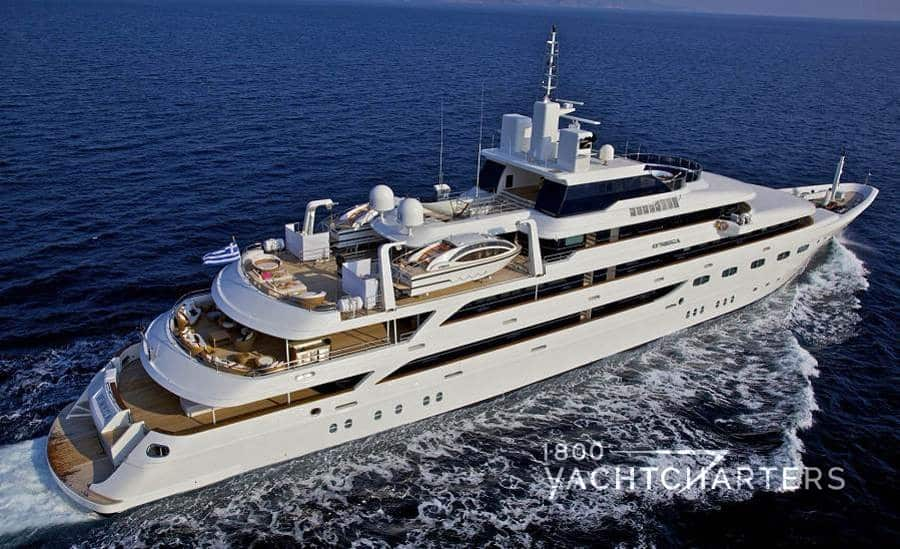 O'Mega superyacht underway