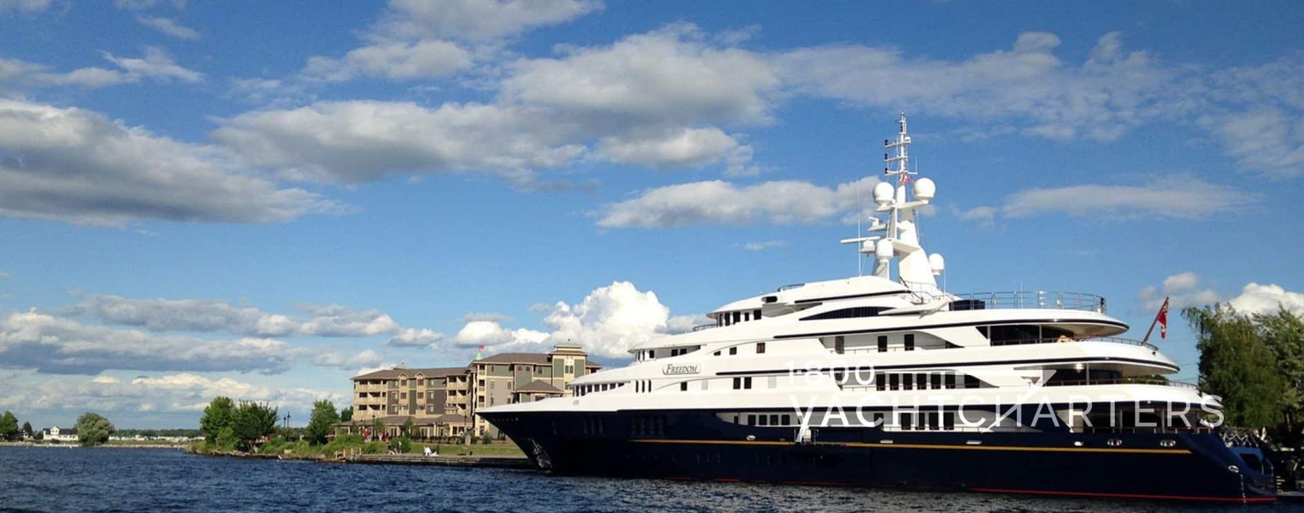 Benetti superyacht Freedom in Clayton New York The Thousand Islands near Canada