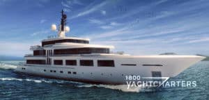 Project Barracuda artist rendering Turquoise Yachts and H2 Yacht Design project