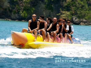 Banana towable watersports toy