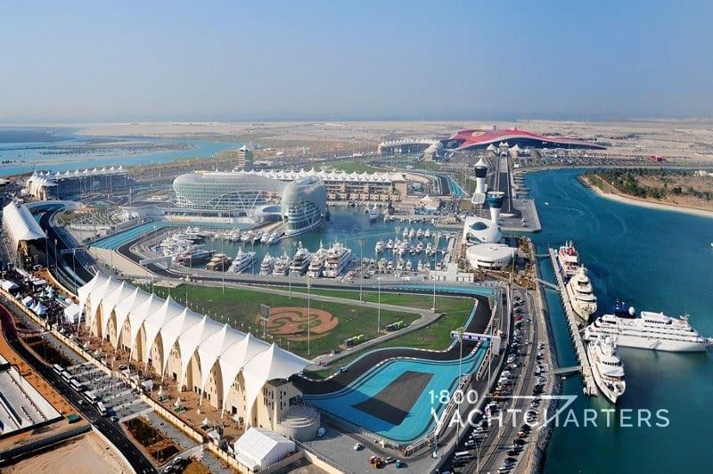 Yas Island Marina at Abu Dhabi
