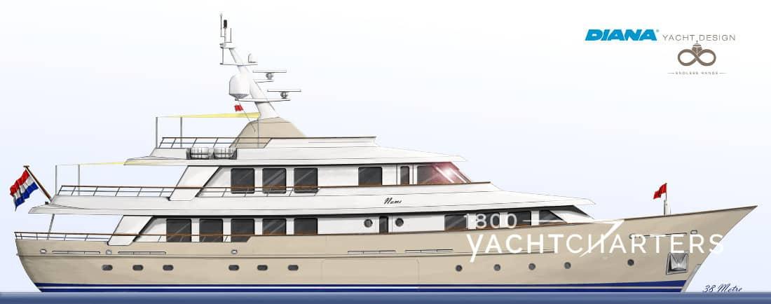 SOPRANO yacht profile drawing